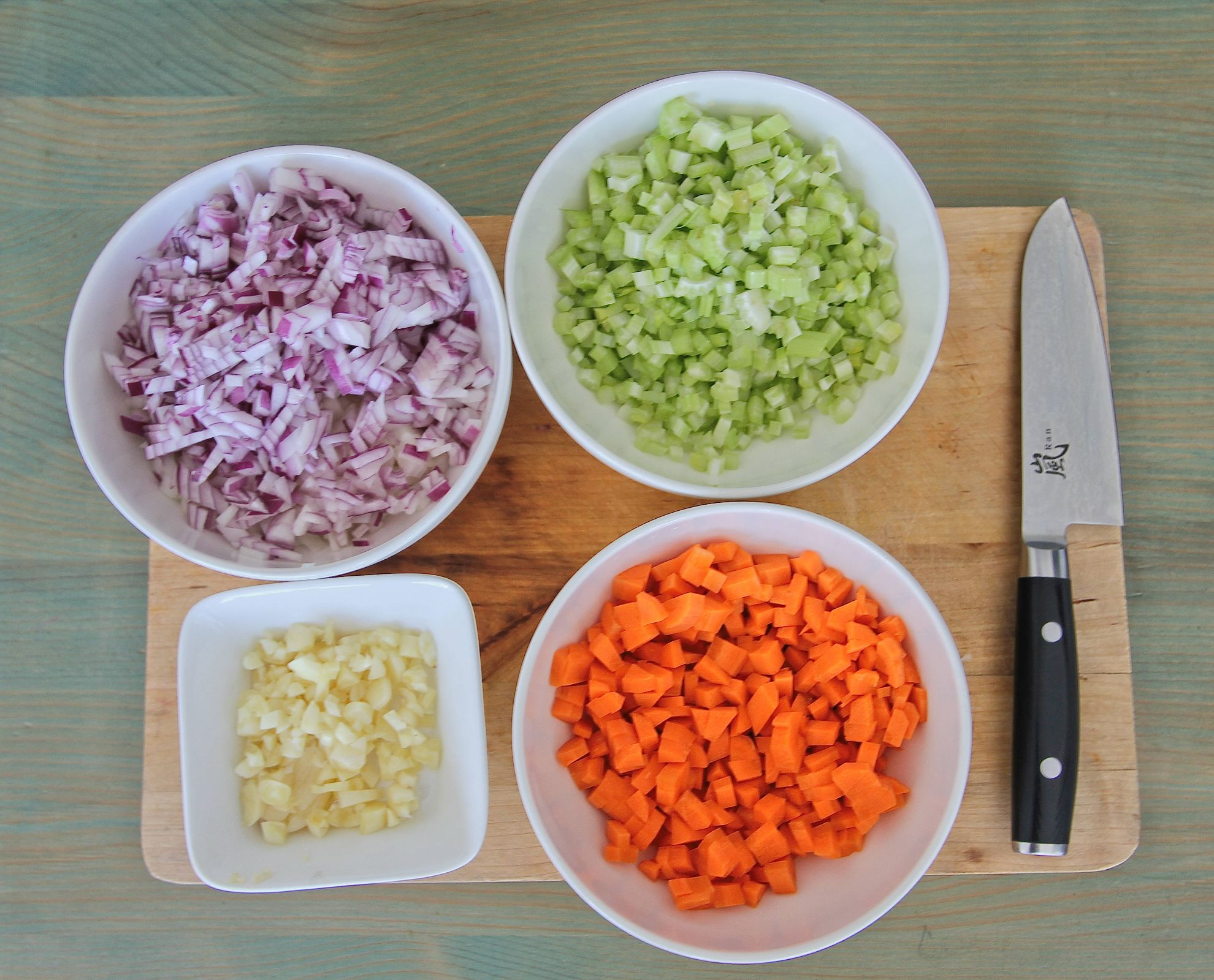 Dicing vegetables