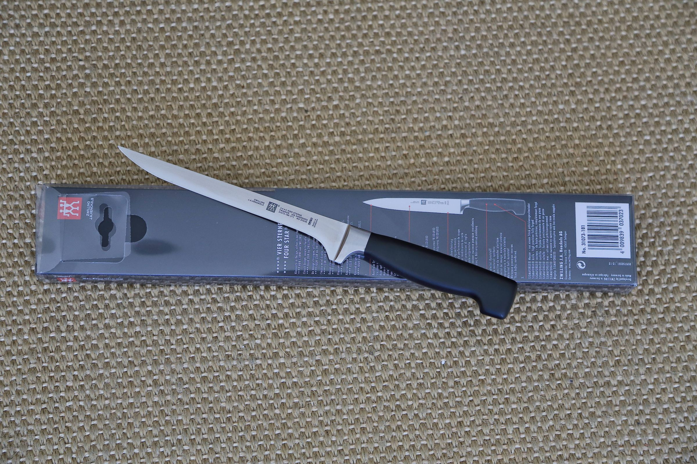 Zwilling Four Star Fillet Knife, 180 mm